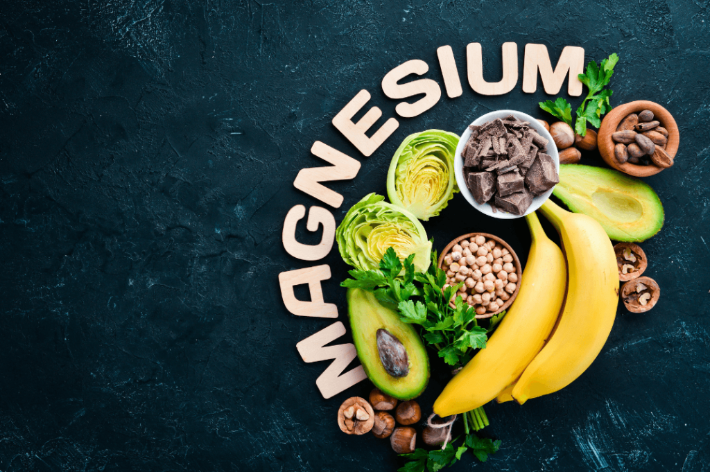 a spread of foods rich in magnesium