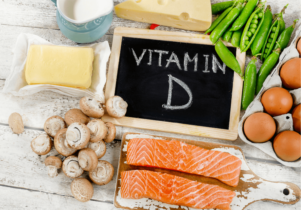 a spread of foods rich in vitamin d